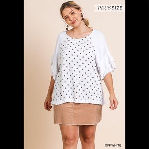 NWT New Arrival Plus Polka Dot Top